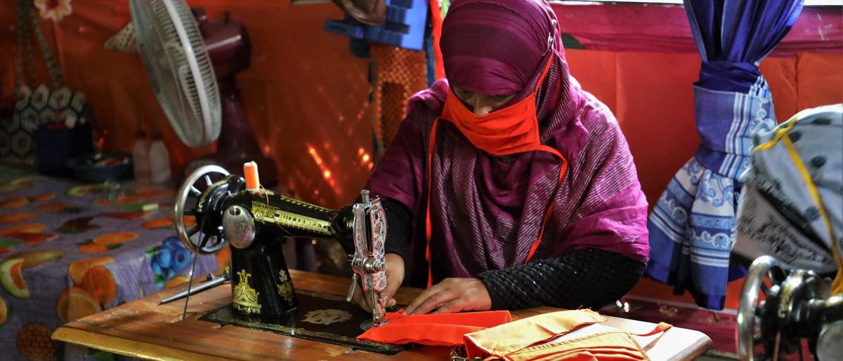 Rohingya Refugees and Host Community Members Produce Over 1 Million Masks in Cox's Bazar