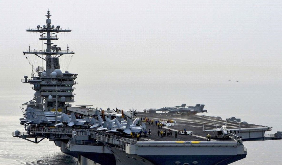 The US Navy is searching for a missing naval officer in the Arabian Sea