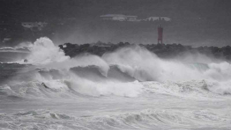 Japan was hit by a super Typhoon, Korea is next inline