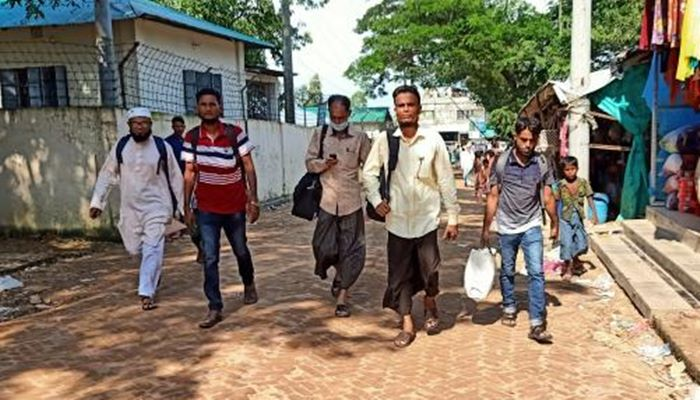 40 Rohingyas reach Bhashan Char to visit accommodation project