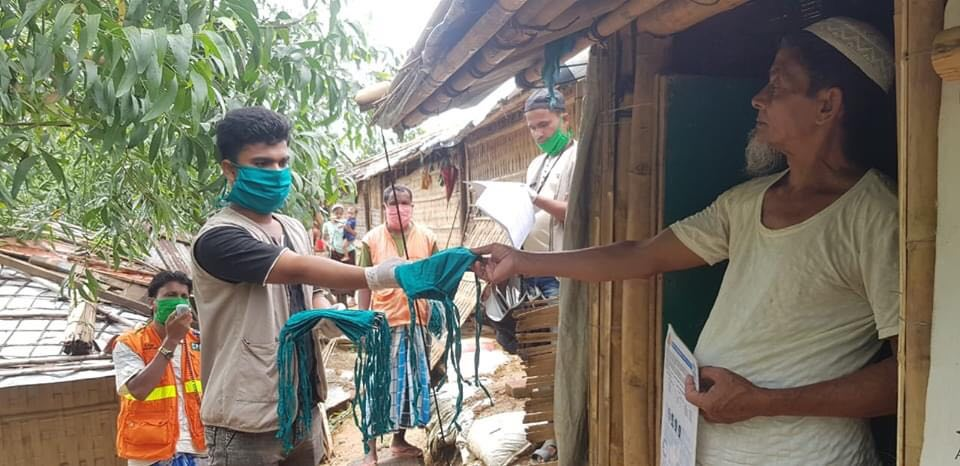 DRC distributed face mask and assessed shelter in camp 8W